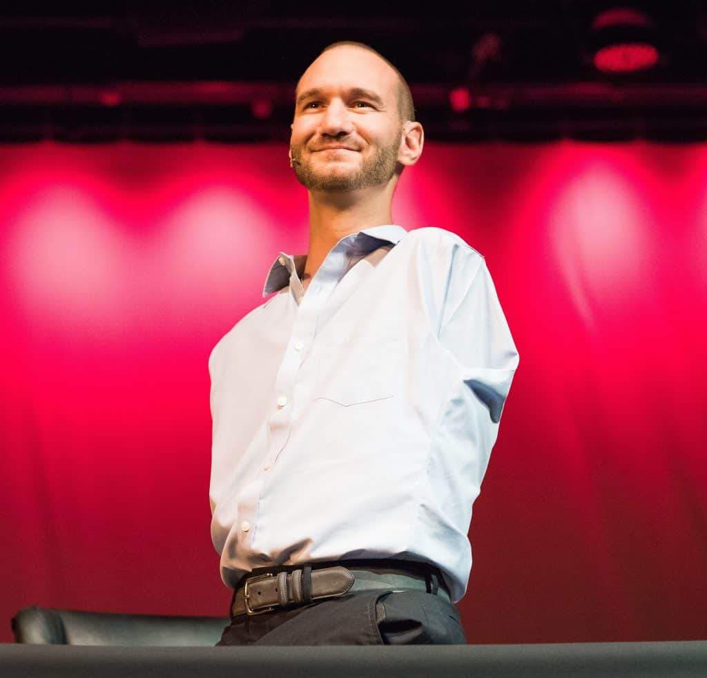 Check out famous Nick Vujicic in this Christian Ted Talks list