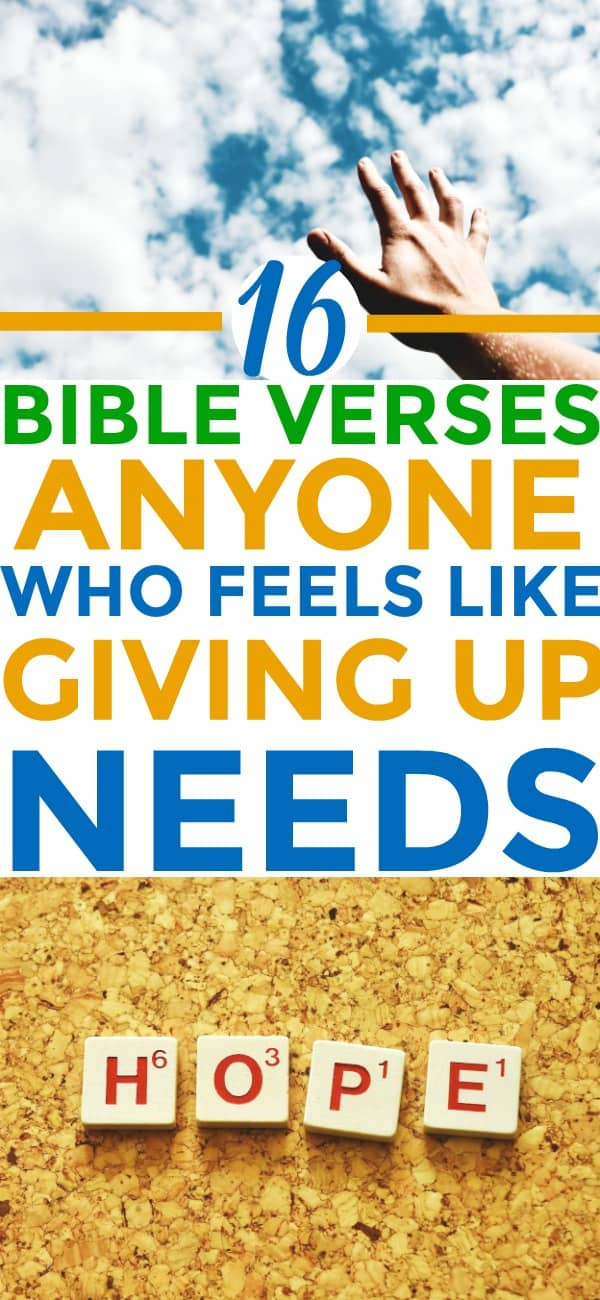 Totally LOVED these Bible verses about NOT giving UP! I'm SO glad I FOUND THIS!