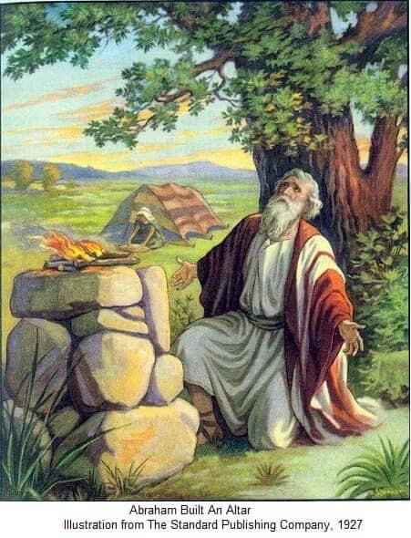Praying in the morning